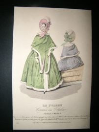 Le Follet C1840 Hand Coloured Fashion Print 550